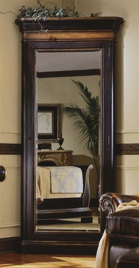 Jewelry armoire with large full length mirror