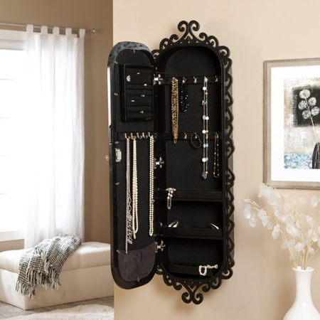 Zen Wall Mounted Jewelry Armoire Type