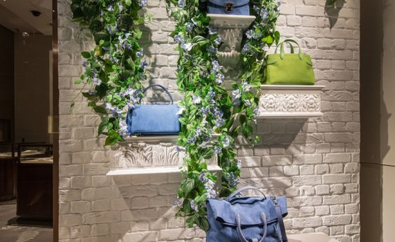 Asprey spring window display by millington associates