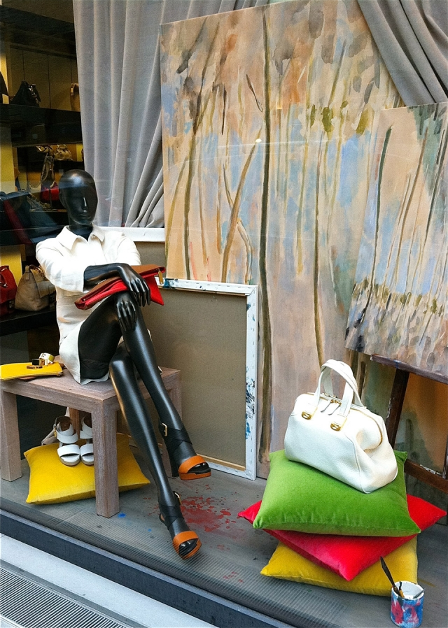 Firenze italy artistic spring window display