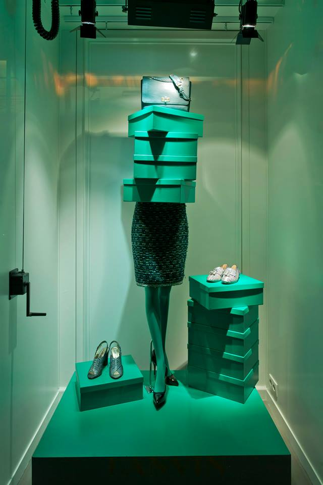 Lanvin paris spring window display 2014
