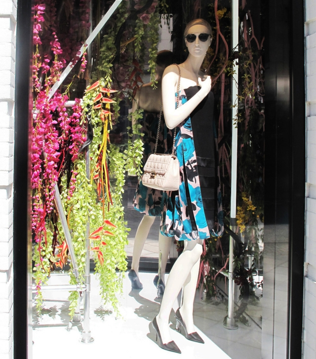 Dior classy spring window display
