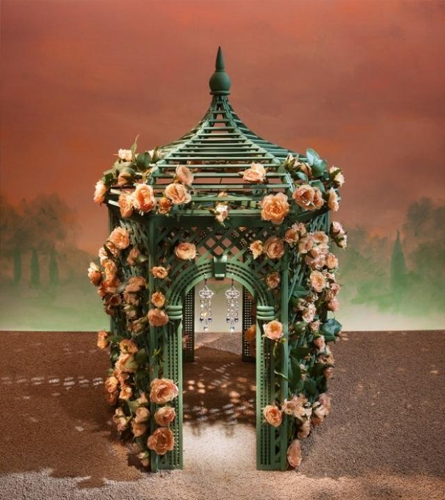 Tiffany Secret Garden spring window display