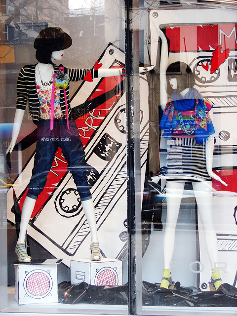 Forever 21 vibrant spring window display