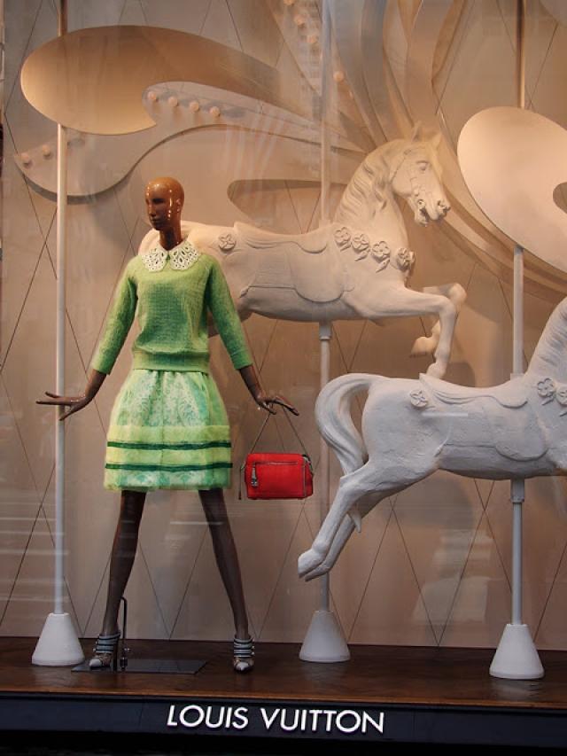 Louis Vuitton carousel spring window display