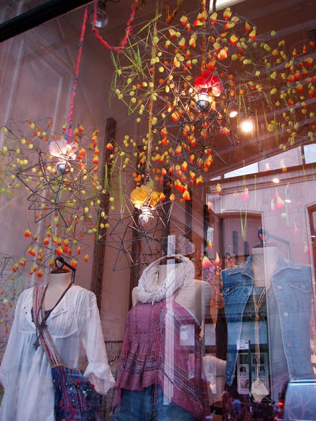 Free people delightful spring window display