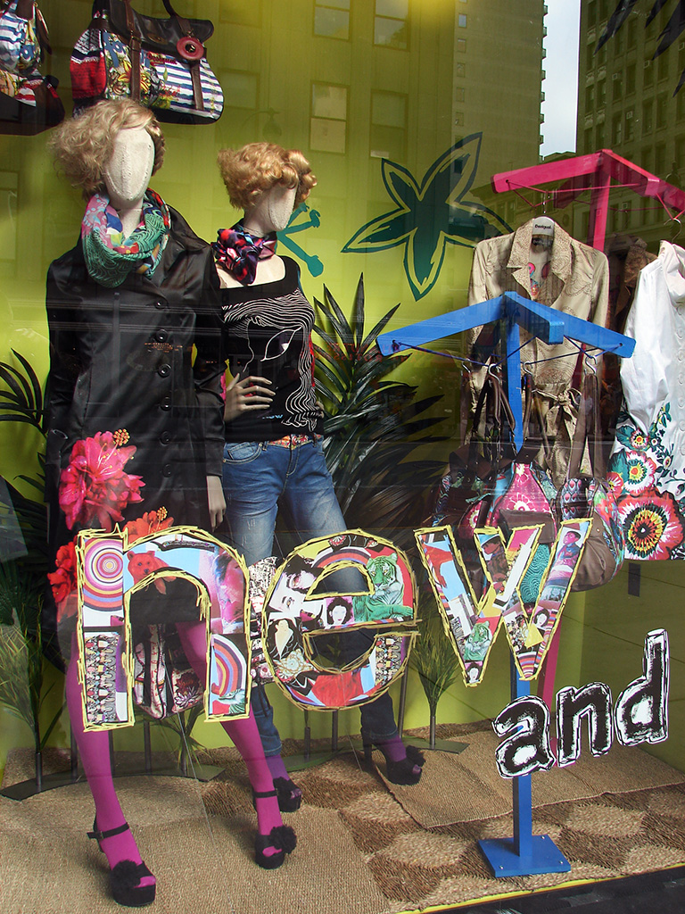 Desigual ultra colorful spring window display