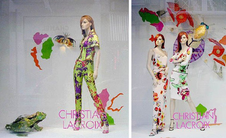 Christian lacroix colorful spring window display
