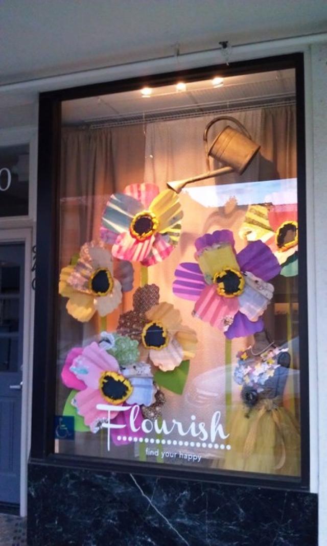 Flourish spring window display