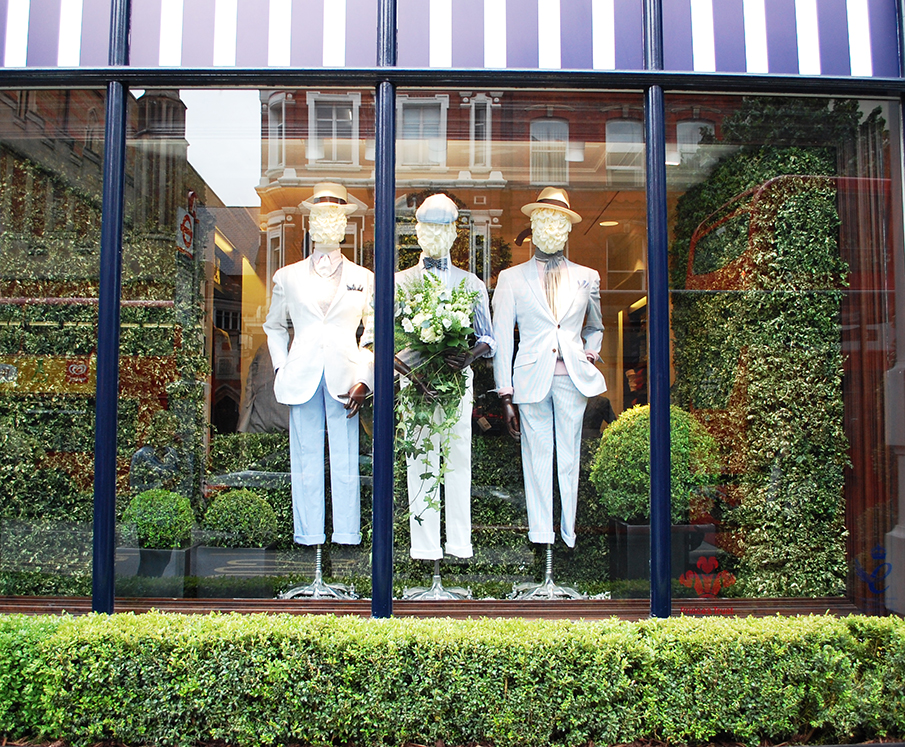 Hackett green spring window display
