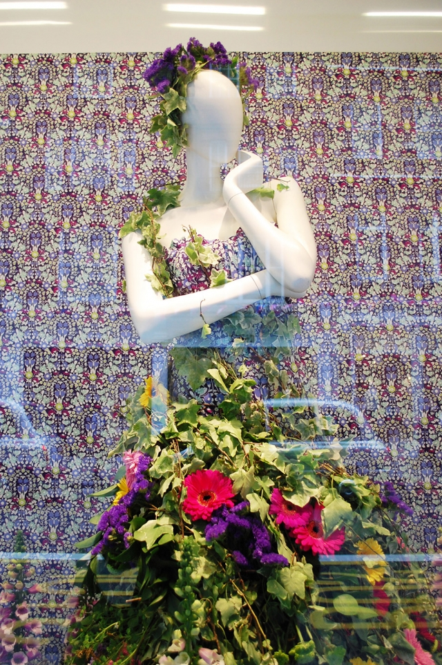 John lewis flower dress spring window display