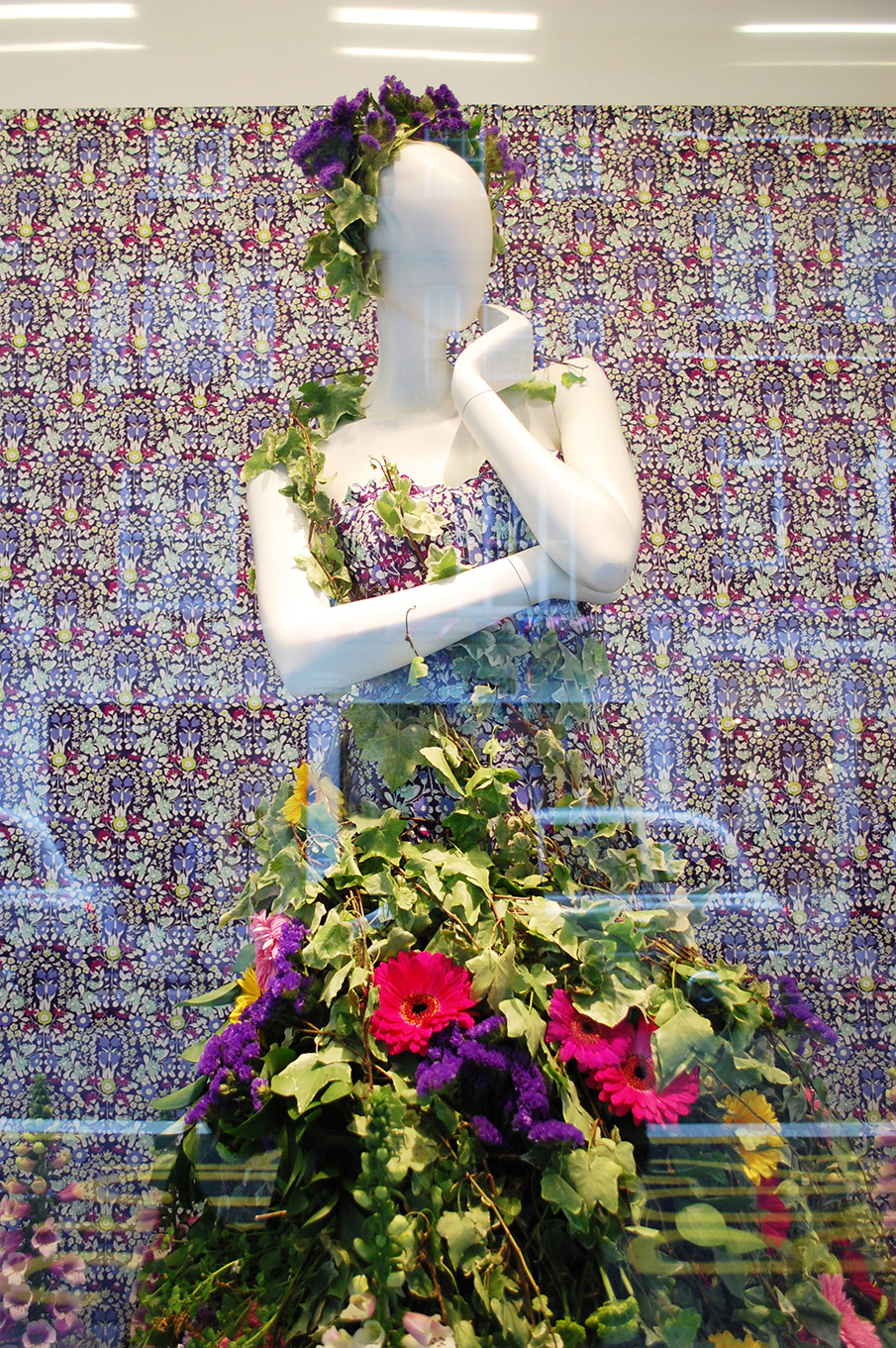 John lewis flower dress spring window display