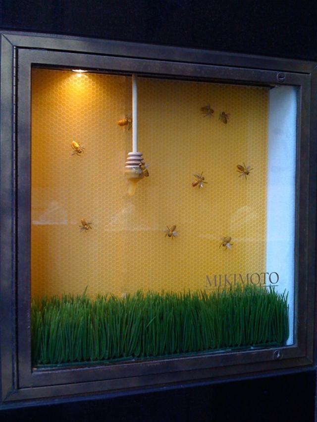 Mikimoto manhattan spring window display