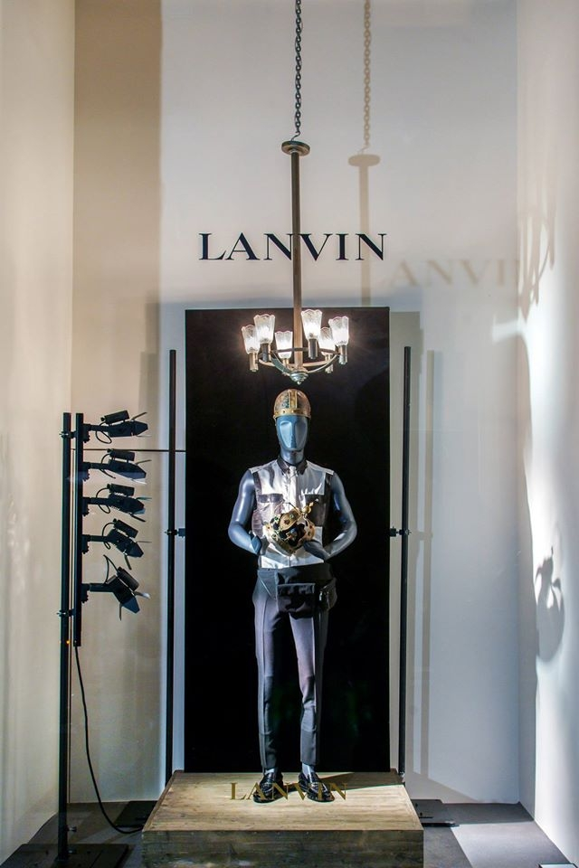 Lanvin kings and queens spring window display