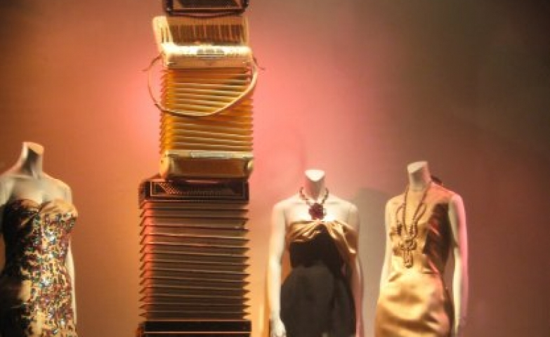 Lanvin accordions spring window display