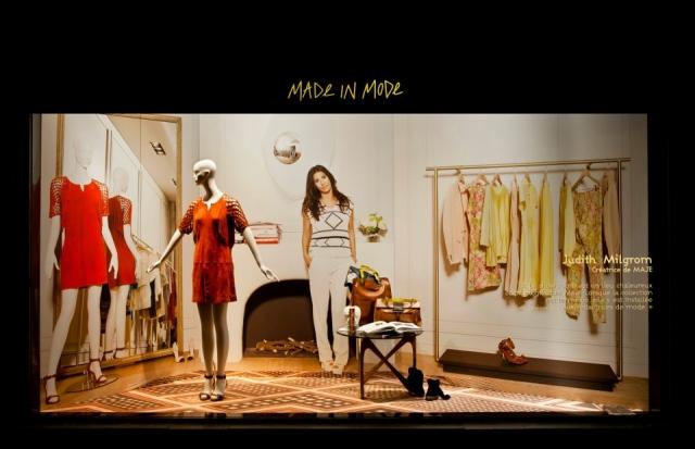 Maje woman flat spring window display