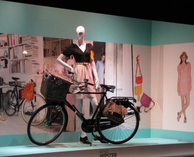 Galeries Lafayette bike spring window display