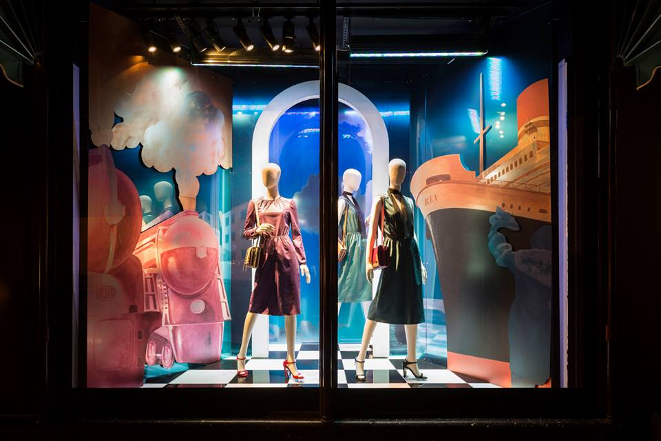 Prada harrods spring window display