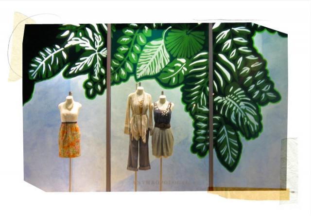 Anthropologie mesa spring window display