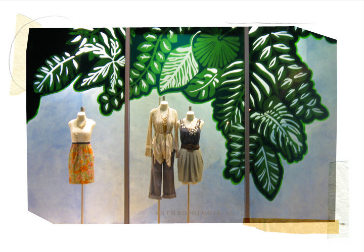Anthropologie mesa spring window display