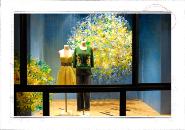 Anthropologie huston spring window display
