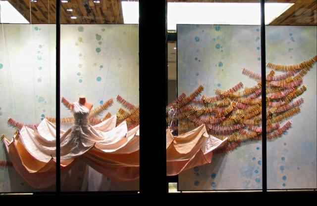 Anthropologie skokie spring window display
