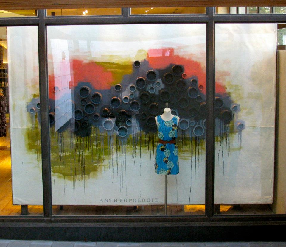 Anthropologie store spring window display