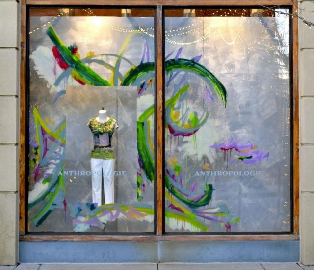 Anthropologie columbus spring window display