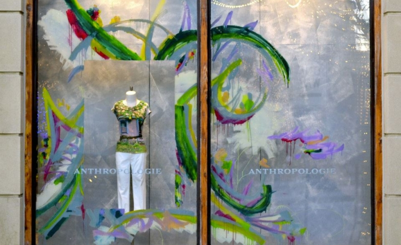 Anthropologie columbus spring window display