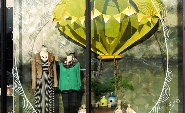 Anthropologie chestnut hill spring window