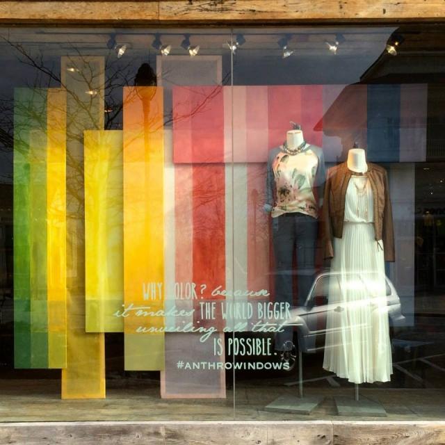 Anthropologie 2015 spring window display