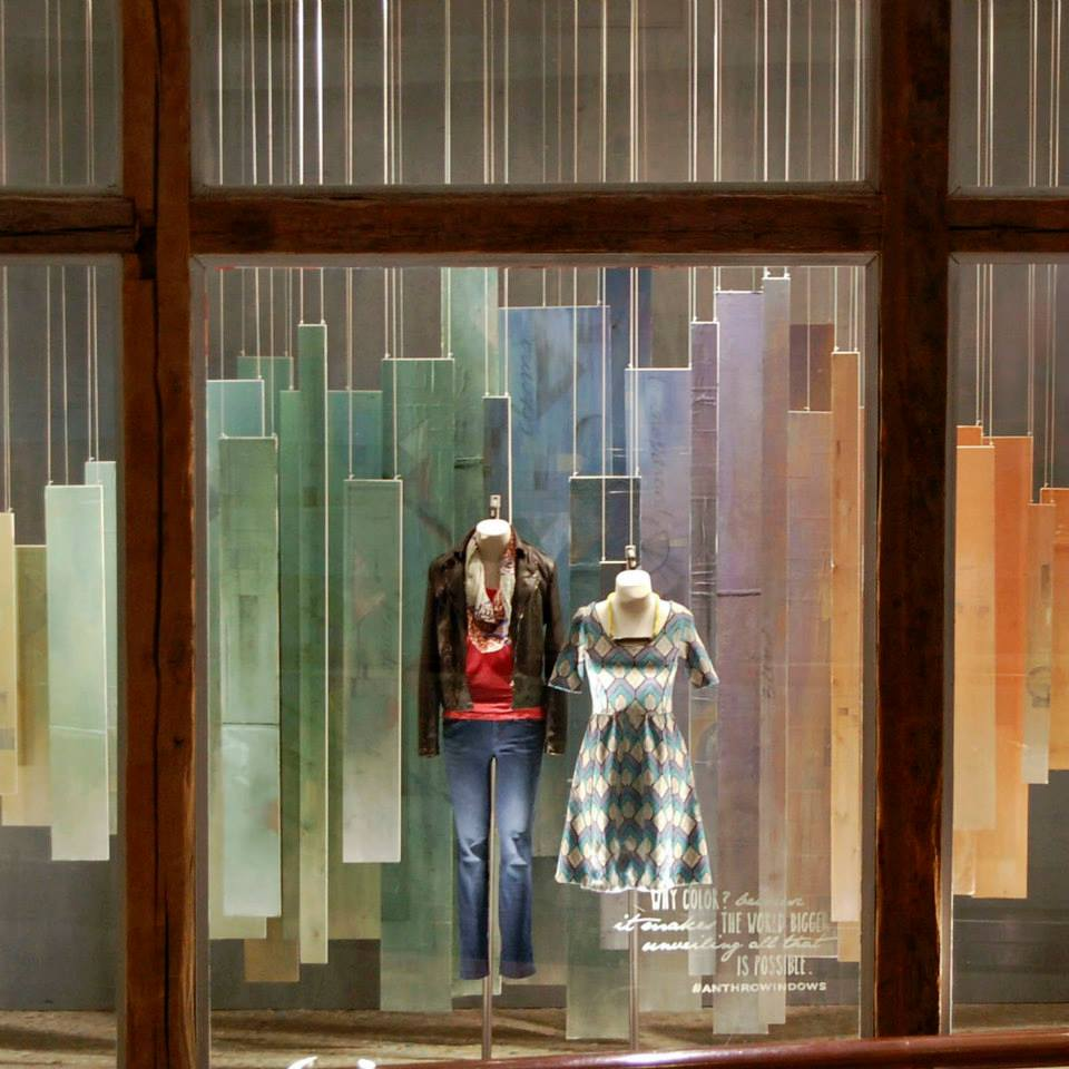 Anthropologie pastel 2015 spring window display