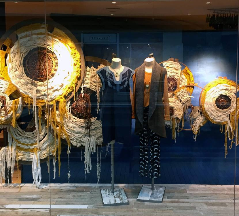 Anthropologie salt lake city spring window display