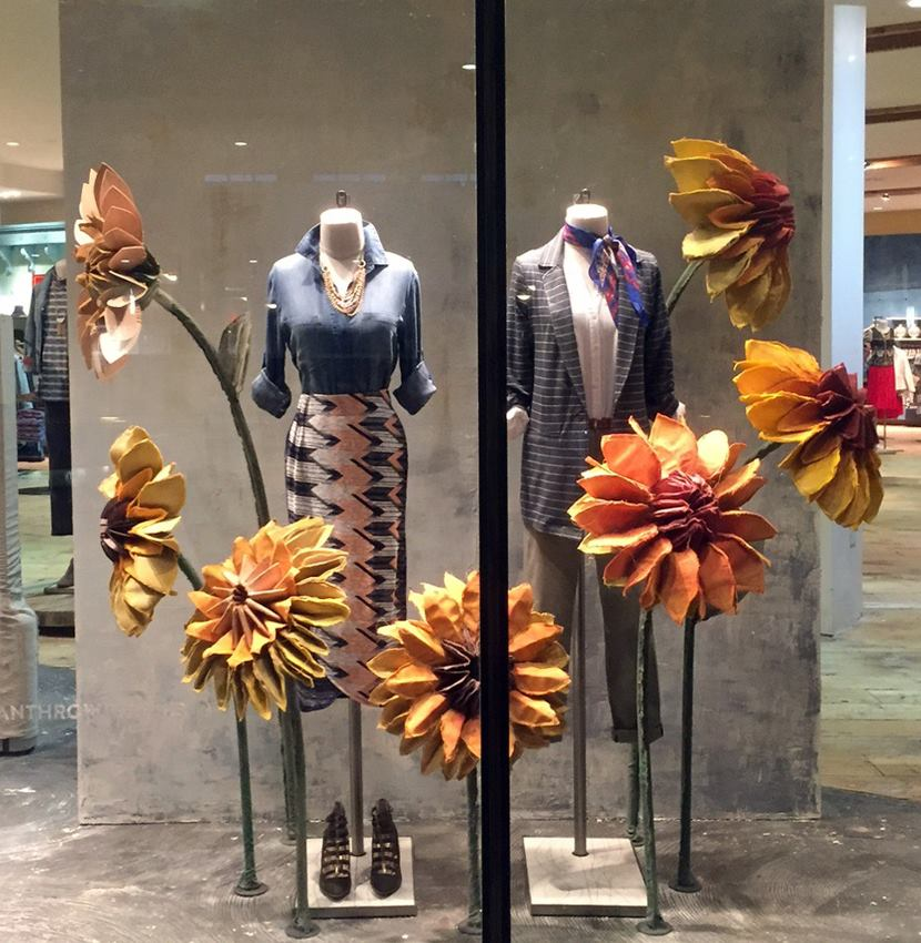 Anthropologie white plains spring window display