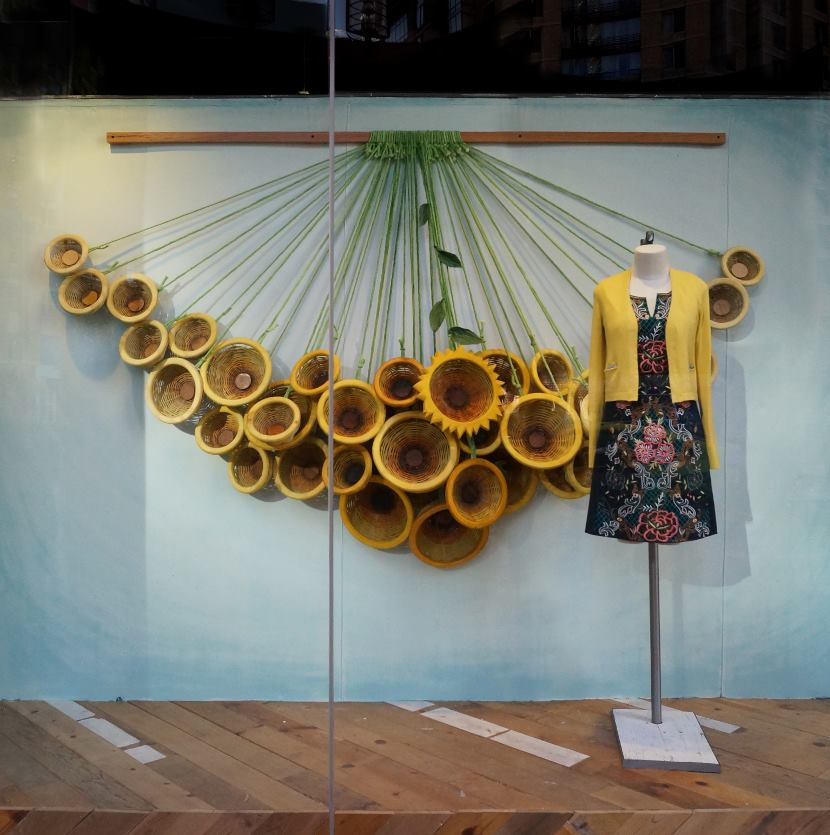 Anthropologie baltimore spring window display