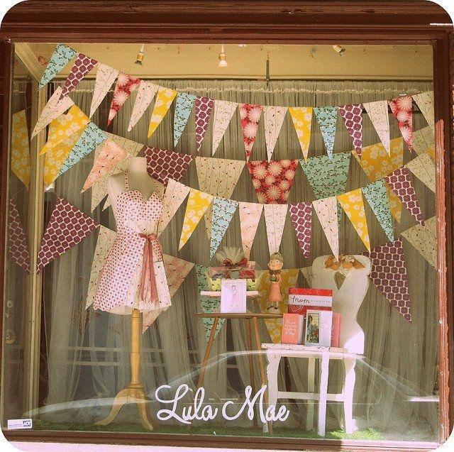 Lula mae colorful spring window display
