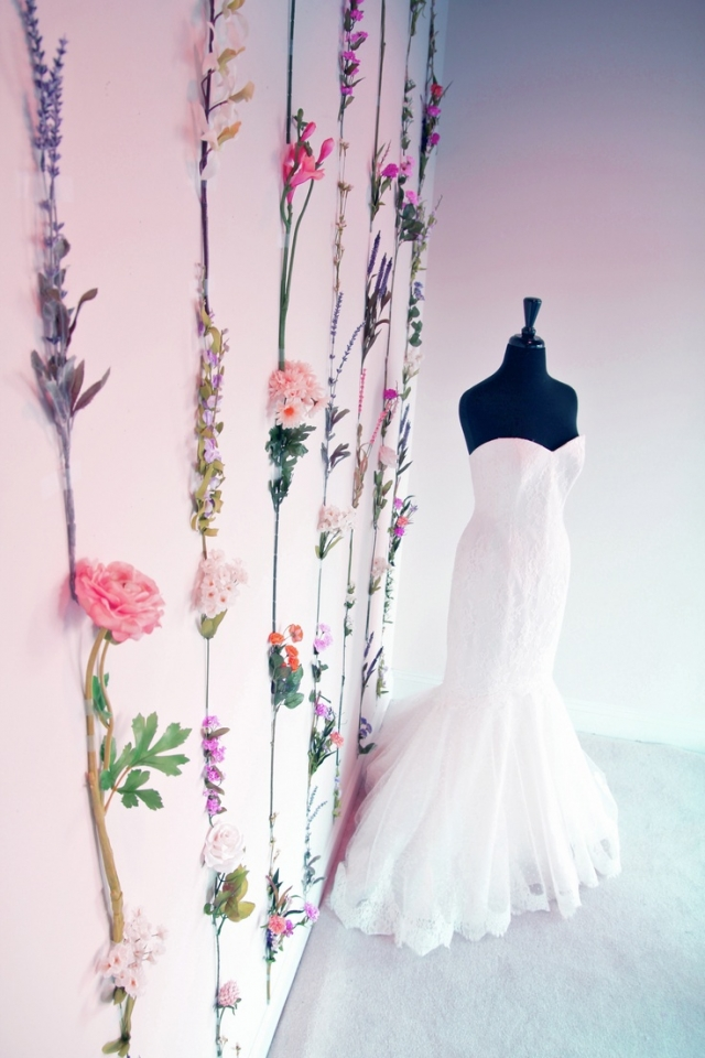 Soliloquy flower wallpaper spring window display