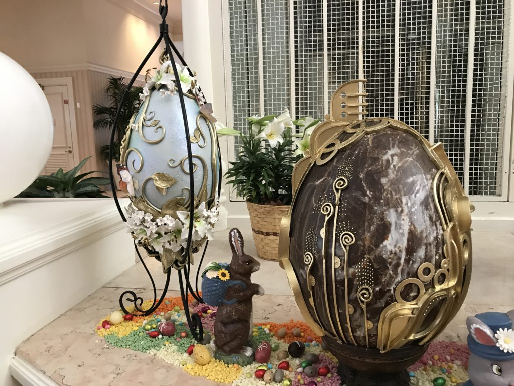 This Easter eggs that are unique and not Disney inspired at all, should be placed in a window display as a decoration out of the usual.