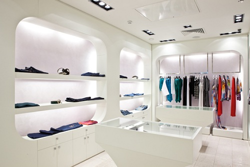 White light retail store design