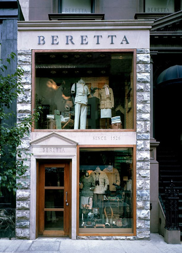 Weapons & Guns Focused Store Window Display Design - Beretta NY
