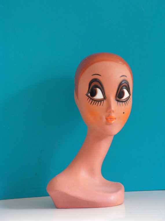 vintage mannequin head big eye