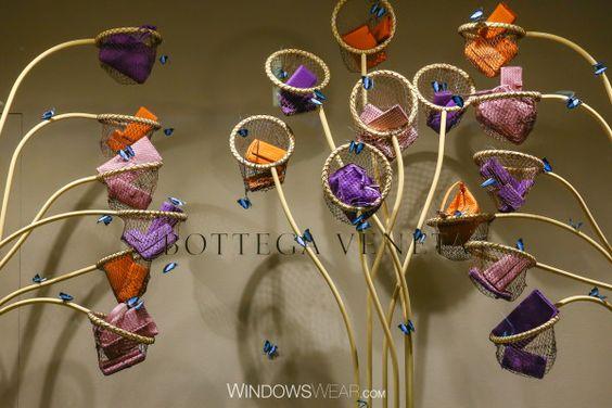 Bottega Veneta creative & colorful visual merchandising windows display seen in Barcelona.