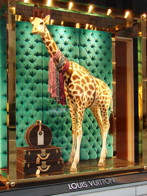 "Louis Vuitton came up with this ""fabtastic"" concept to advertise their animal print scarves."