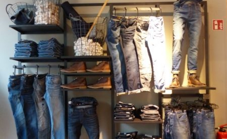 Jeans have kept their place the fashion world for some time now, and are a huge part of the American and worldwide culture. This display focuses on the fact that they will never go out of style, exposing them as witty and practical and historical fashion statements.
