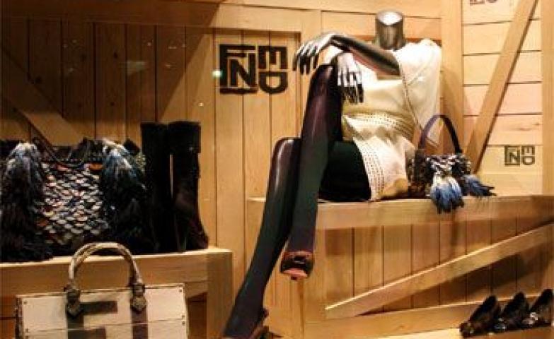 """""""Linda is moving on"""" visual merchandising display for Fendi in Tokyo, Japan."""