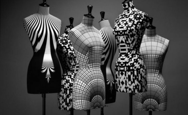 Unusual mannequin patterns which can be used for unique visual merchandising display.