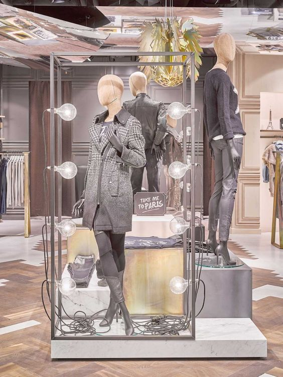 You may be in Berlin and want to go to Paris, but the French side could never be as edgy and elegant as this straightforward Blocher display in Germany.