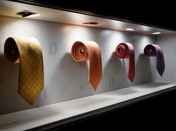 Simple and elegant window display for Hermés made by Torafu Architects, seen in Tokyo.