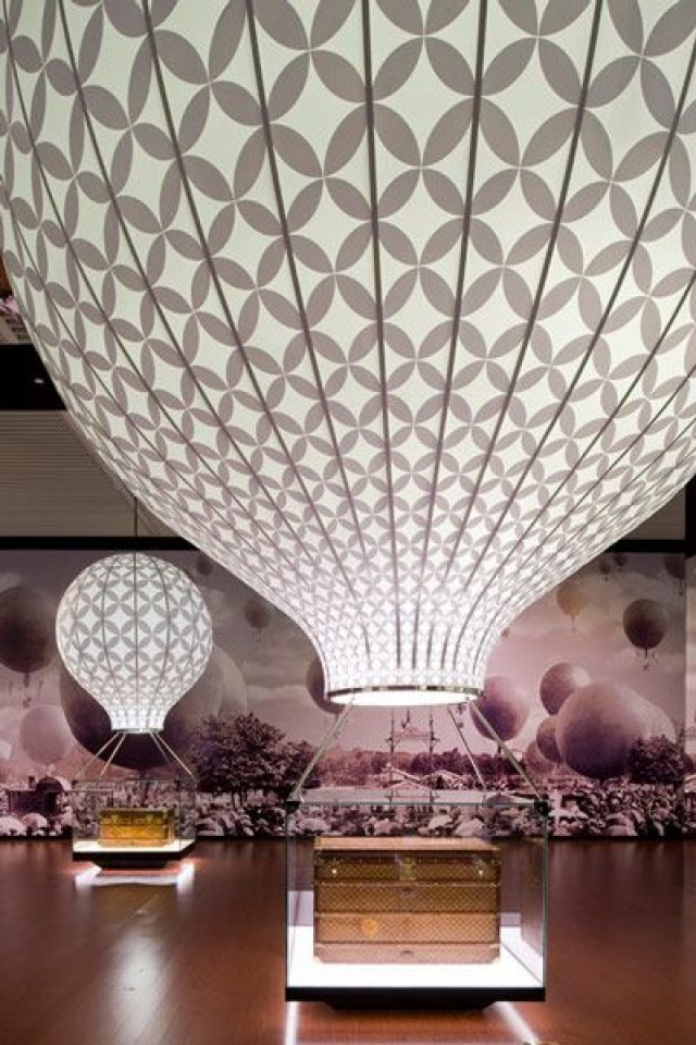"""Photo from the """"Voyage"""" exhibition by Louis Vuitton at the National Museum of China, in Beijing."""