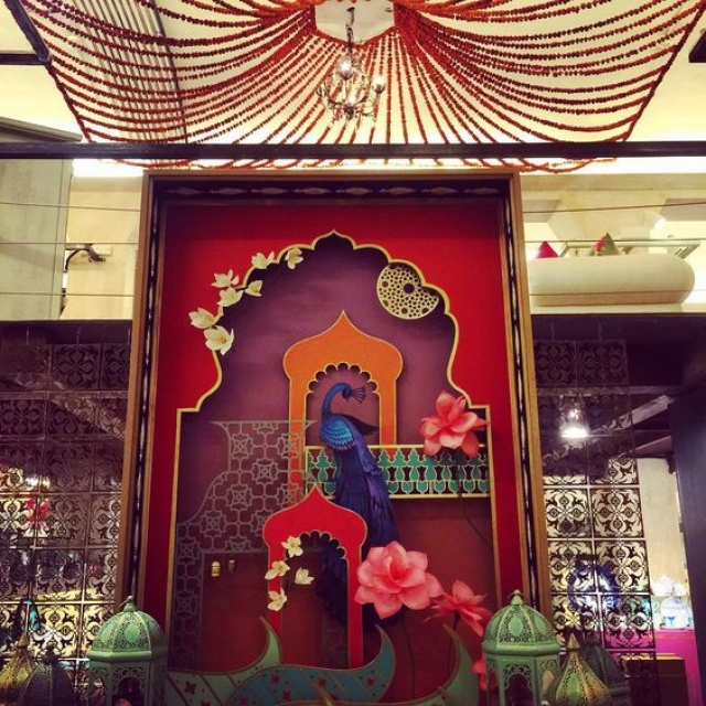 The spectacular visual merchandising which was seen at the Goodearthindia for the launch of the annual design collection  Eternal Kashi Benaras.
